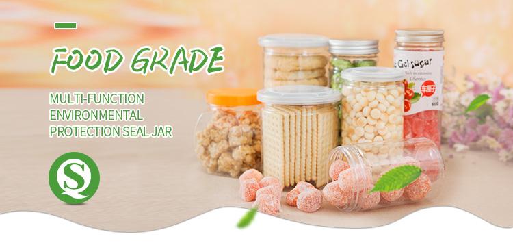 Manufacturer PET Plastic Food Jar With Screw Top Lid