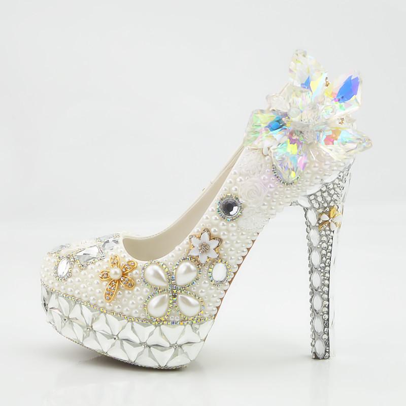 wedding shoes heel quality dinner bridal crystal ZH758B Hot High women sale high fashion PxnT4Sq