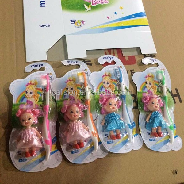 Wholesale soft unique children toothbrush with toys
