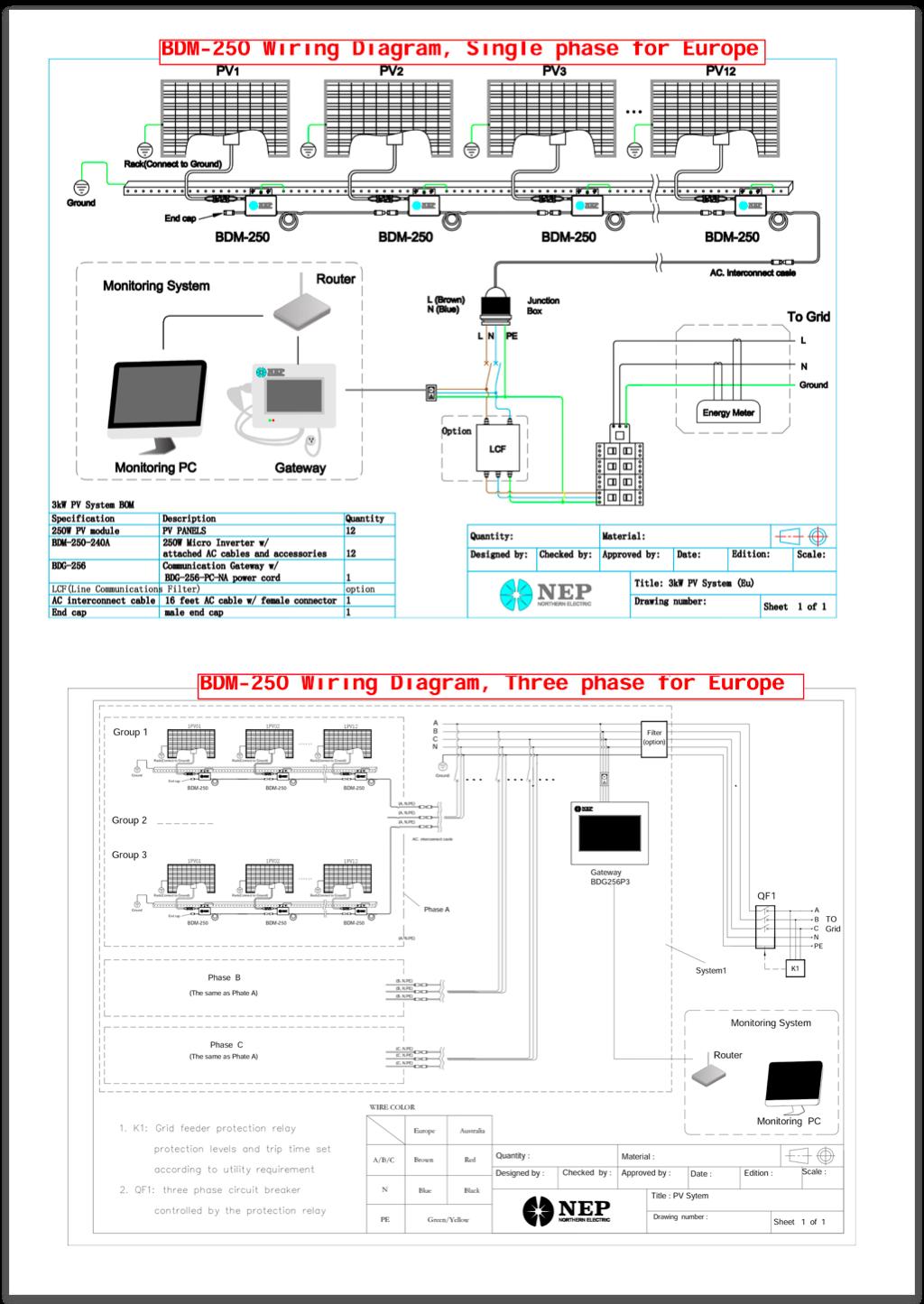 Ul1741 Iec61727 Certificated Solar Micro Inverter 250w 300w 500w Pv Panel Wiring Diagram