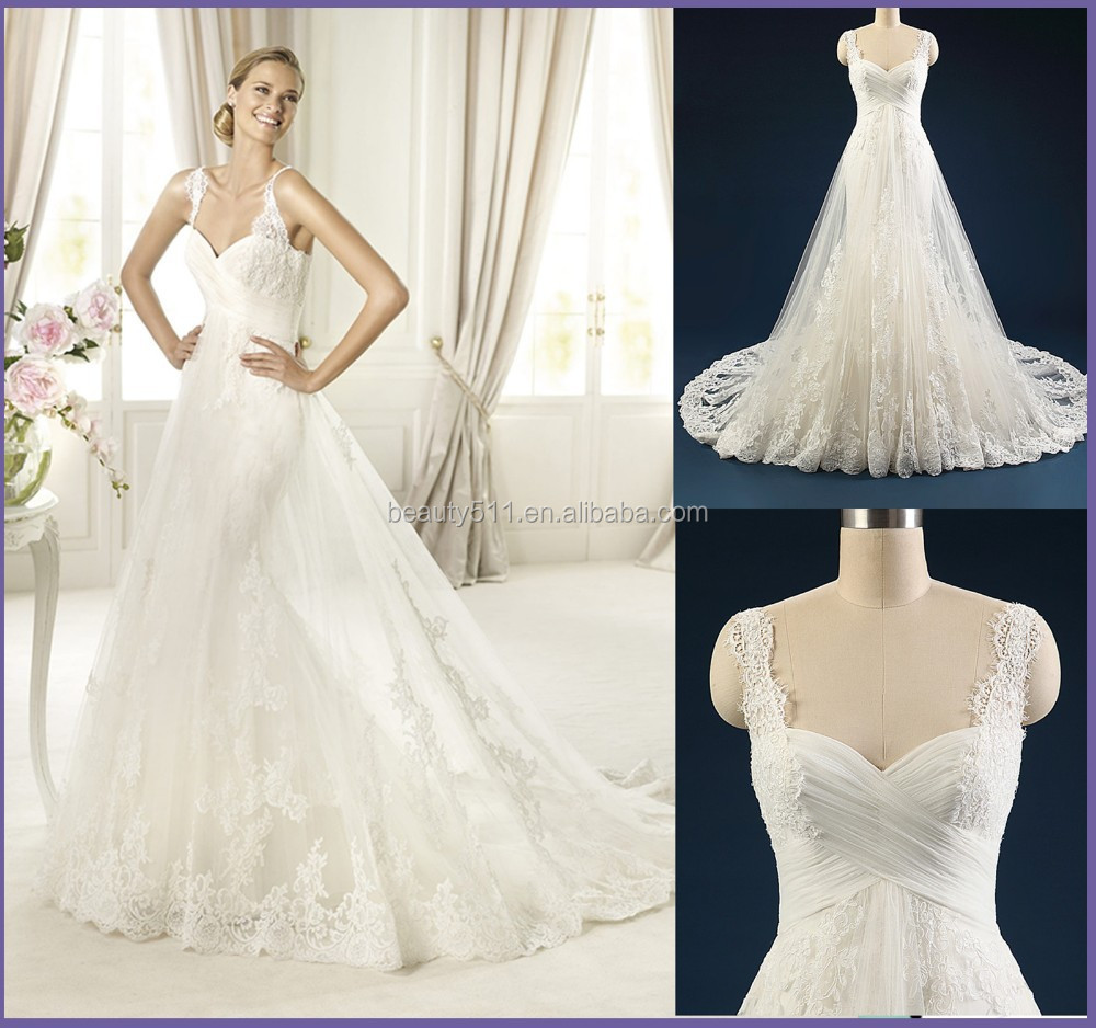 728c99a8ac0c China Tulle And Lace Wedding Gown, China Tulle And Lace Wedding Gown  Manufacturers and Suppliers on Alibaba.com