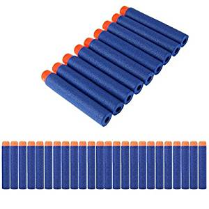 Lot 200 Pcs 7.2cm Blue Foam Darts for Nerf N-strike Elite Series Blasters Toy Gun