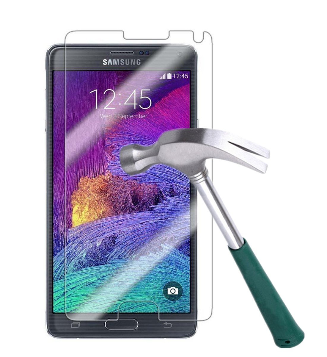 Galaxy Note 4 Screen Protector,TANTEK [Bubble-Free][HD-Clear][Anti-Scratch][Anti-Glare][Anti-Fingerprint] Premium Tempered Glass Screen Protector for Samsung Galaxy Note 4,[Lifetime Warranty]-[1Pack]