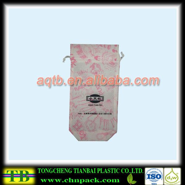custom printing Non Woven Drawstring bag for shoes