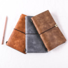 custom printed A5 hardcover pu leather travel note book