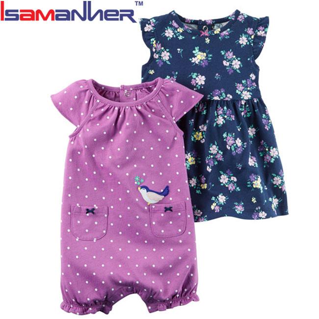 Fashion design neonato vestiti delle ragazze vestiti del bambino insieme pagliaccetto