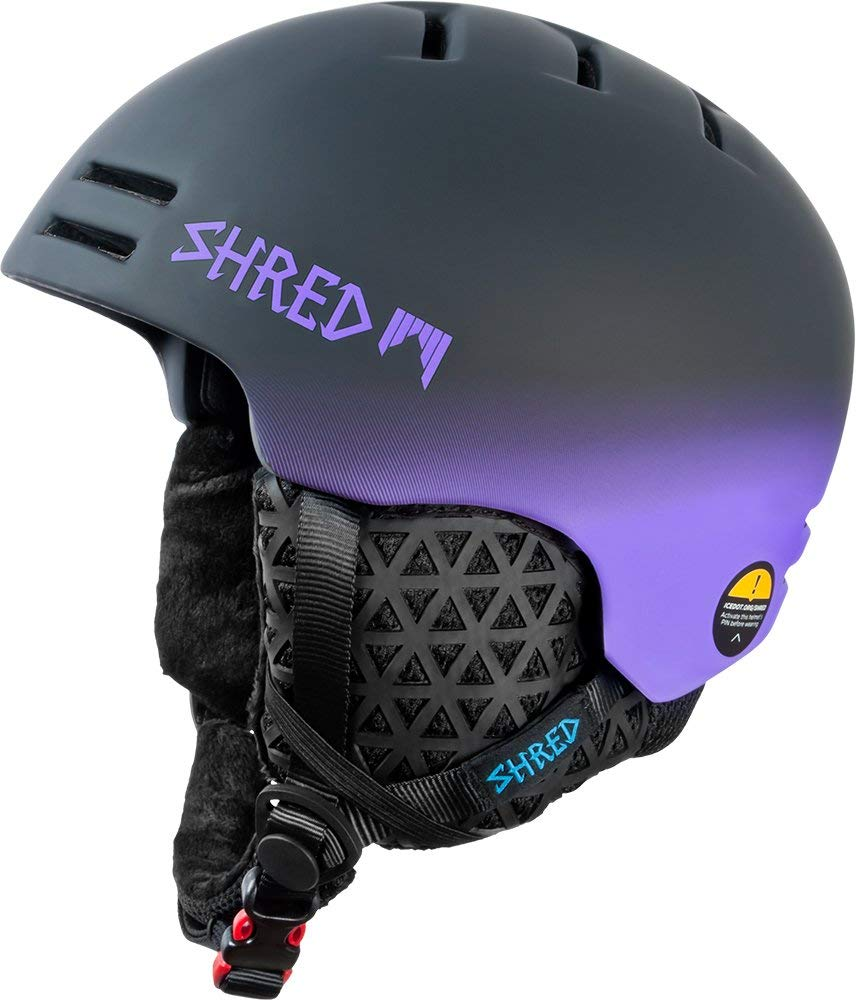 SHRED Helmet, Black/Purple, Medium/Large