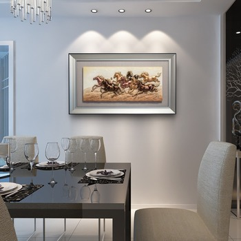 colorful modern relief glass paintings indian home decoration 3d art