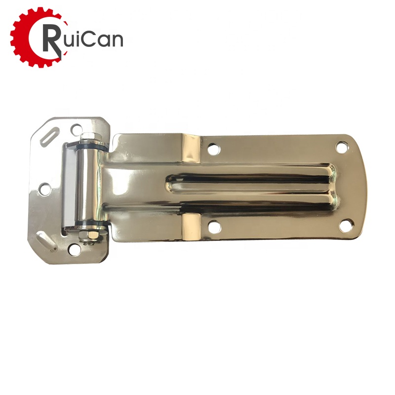 OEM customized spring square tube truck glass door cabinet hinge for cabinet with artistic brass metal cold forging parts
