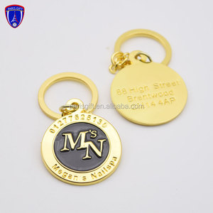 Hot Sale Token Coin Keychain Metal Euro Coin Holder Personalised Trolley  Coins
