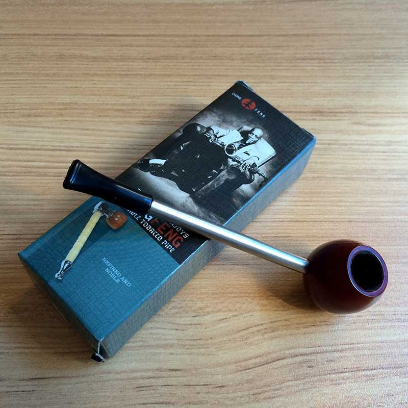 1pc Hot Sale High Grade Small Plasticmetal Pipe Smoking Pipe Wood