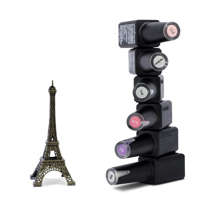 UNNA Wholesale Free Sample Colors Base Top Coat Hardener Matte Top Set Soak Off Nail Polish Color UV Gel