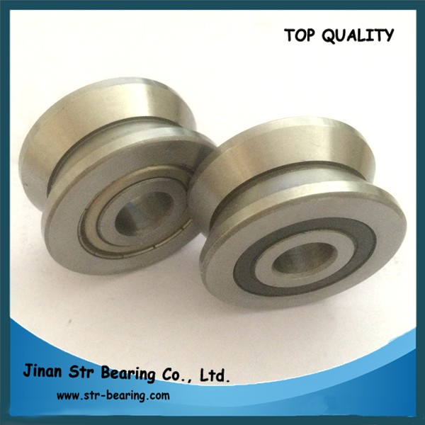 15x38x17mm V groove bearing lv202-38zz / LV202-38 2RS v guide wheel bearing with liner guide rail