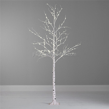 contemporary pre lit indooroutdoor white twig christmas treeclear white birch tree - White Twig Christmas Tree