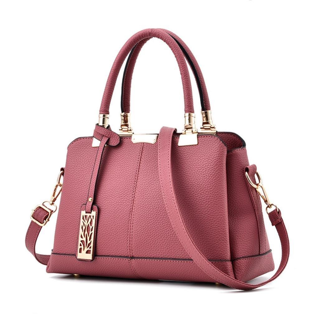 Crossbody Bag, NXDA Women Lichee Pattern Shoulder Bags Handbags Crossbody Bag Bucket Bag For Women and Girls (Pink)