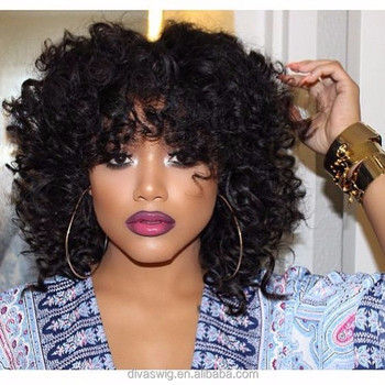 Curly Crochet Braids Lace Front Wigs With Human Virgin Lace Front
