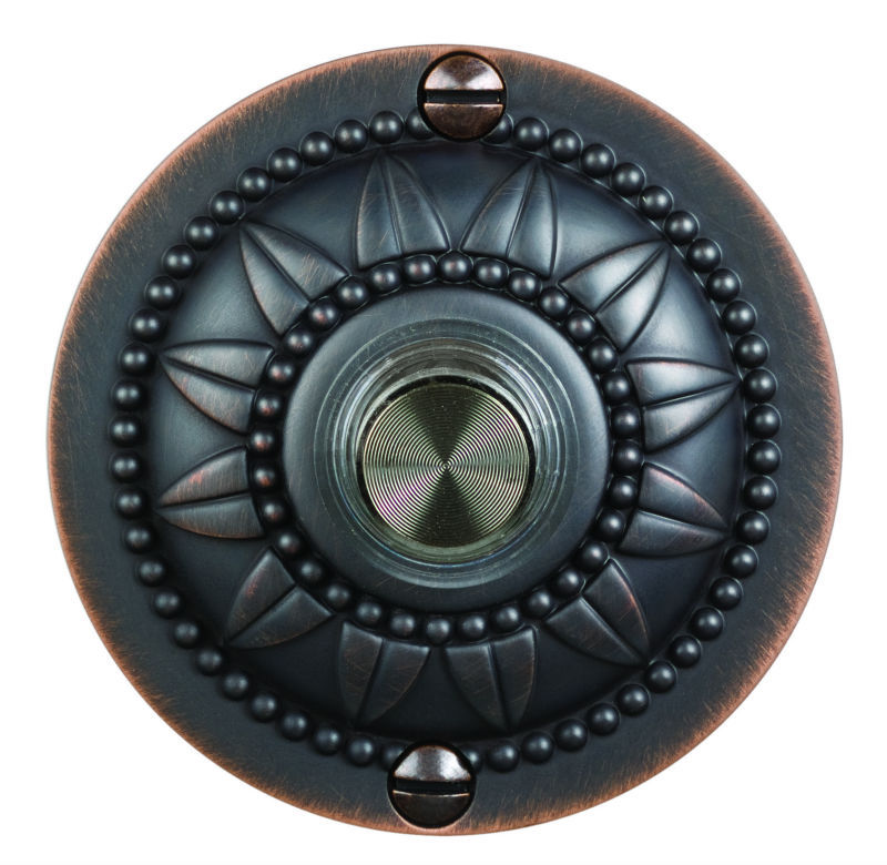 Decorative Circular Wired Doorbell Buttons With Lighted