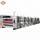 High speed 5 color flexo printing carton box machine with drying and uv coating