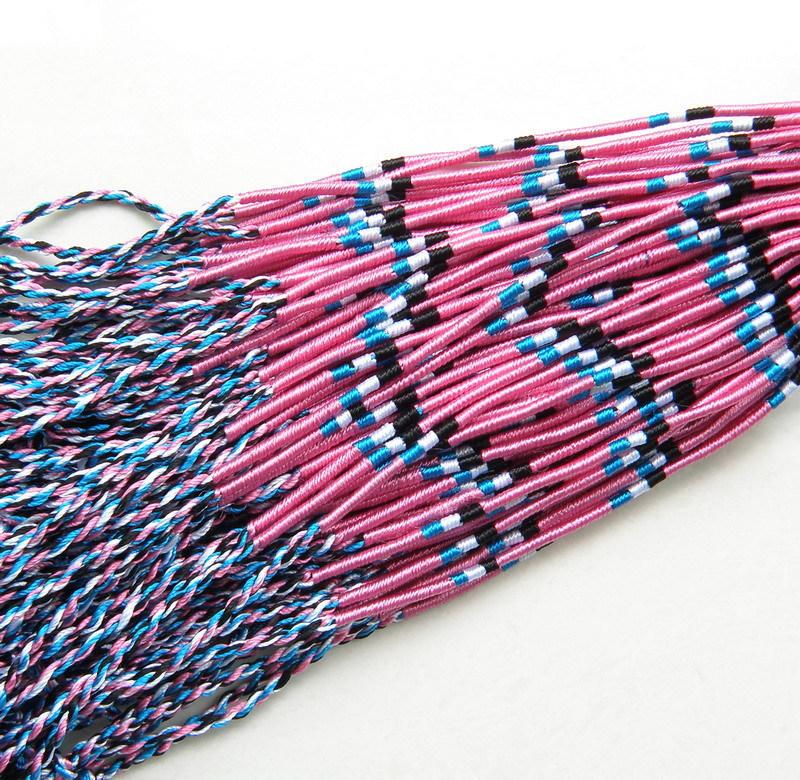 100 string Bracelets & charm Bangle Handmade Round Rope ...