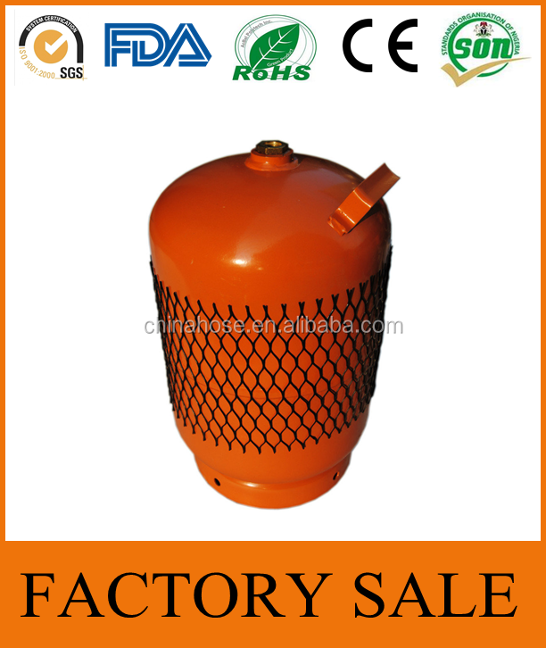 Cixi Jinguan Zimbabwe,South Africa,Zambia 5kg 12L Orange Color LOGO Print Gas Cylinder Container