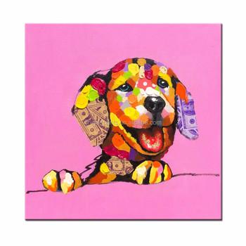 Soyut Köpek Renkli Boyama Baskılar Ev Dekor Tuval Duvar Sanatı Buy