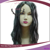 curly grey and white middle part witch halloween wig