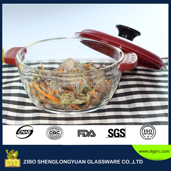 Heat-resistant glass pot for rice cooker