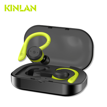 Kinlan TWS ipx7 waterproof Sport headphones bluetooth 5.0 true wireless stereo earbuds with Mic for Smartphones