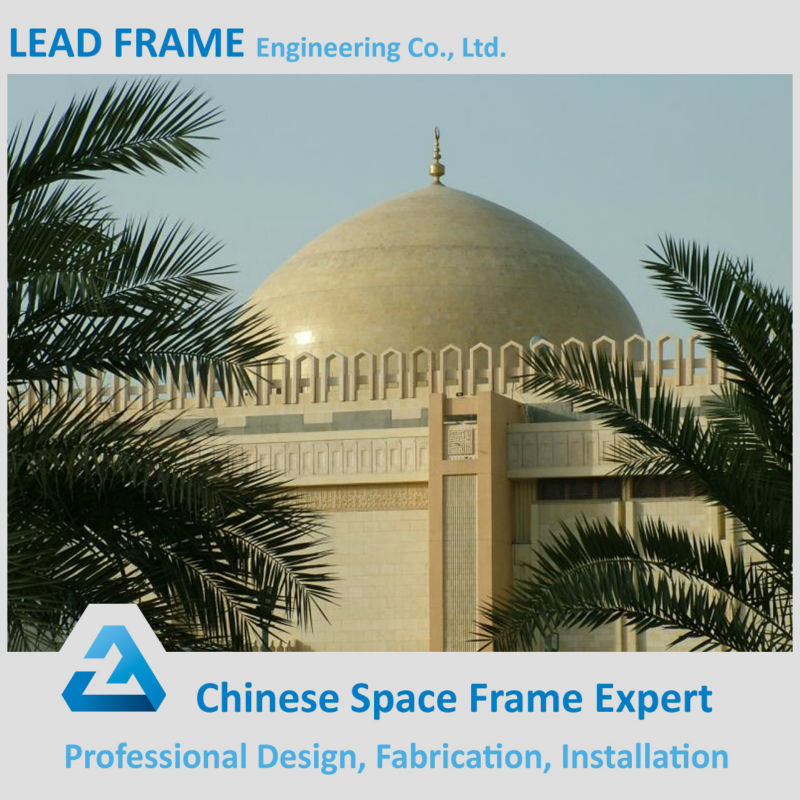 Light Weight Fiberglass Covered Roof Shed Mosque Dome