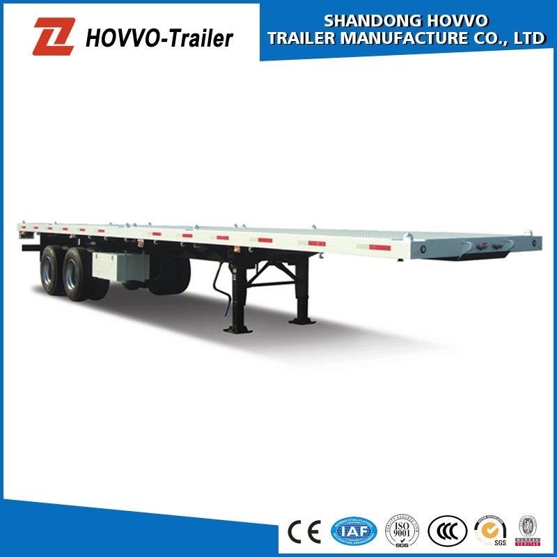 China Supplier 40ft Flat Bed Trailer 40 Ton Container Trailer ...