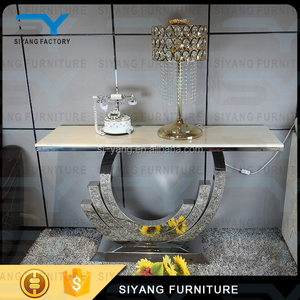 Foshan furniture stainless steel chinese console table wrought iron console table XG004