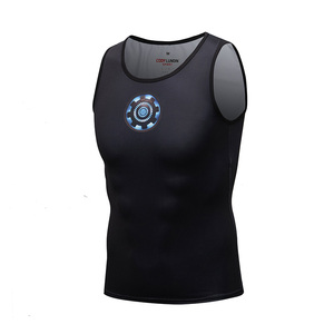 Sublimation blanks clothes superhero custom mens gym vest
