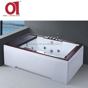 AD-662 New Custom Made 2 Person Acrylic Surfing Hydromassage Bathtub with Tray