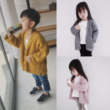 Hu Sunshine 1-7T Child Clothing Wholesale 2017 Autumn Winter Full Sleeves Knitting Boys Girls Sweaters Free shipping