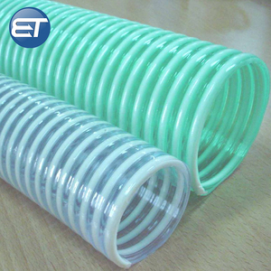 flexible pvc helix spiral oil water pump suction discharge vacuum pipe hose