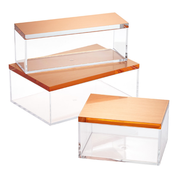 Acrylic Boxes Small : Factory custom small clear acrylic boxes with hinged lids