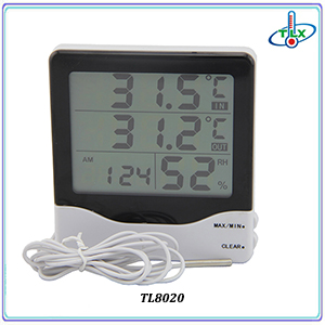 Digital Max Min Thermometer Hygrometer Indoor Room Thermometer Hygrometer with Touchscreen and Record Function