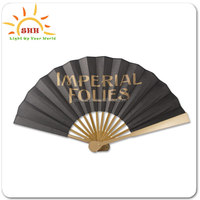Chinese Traditional Personalized LED Silk Folding Hand Fan