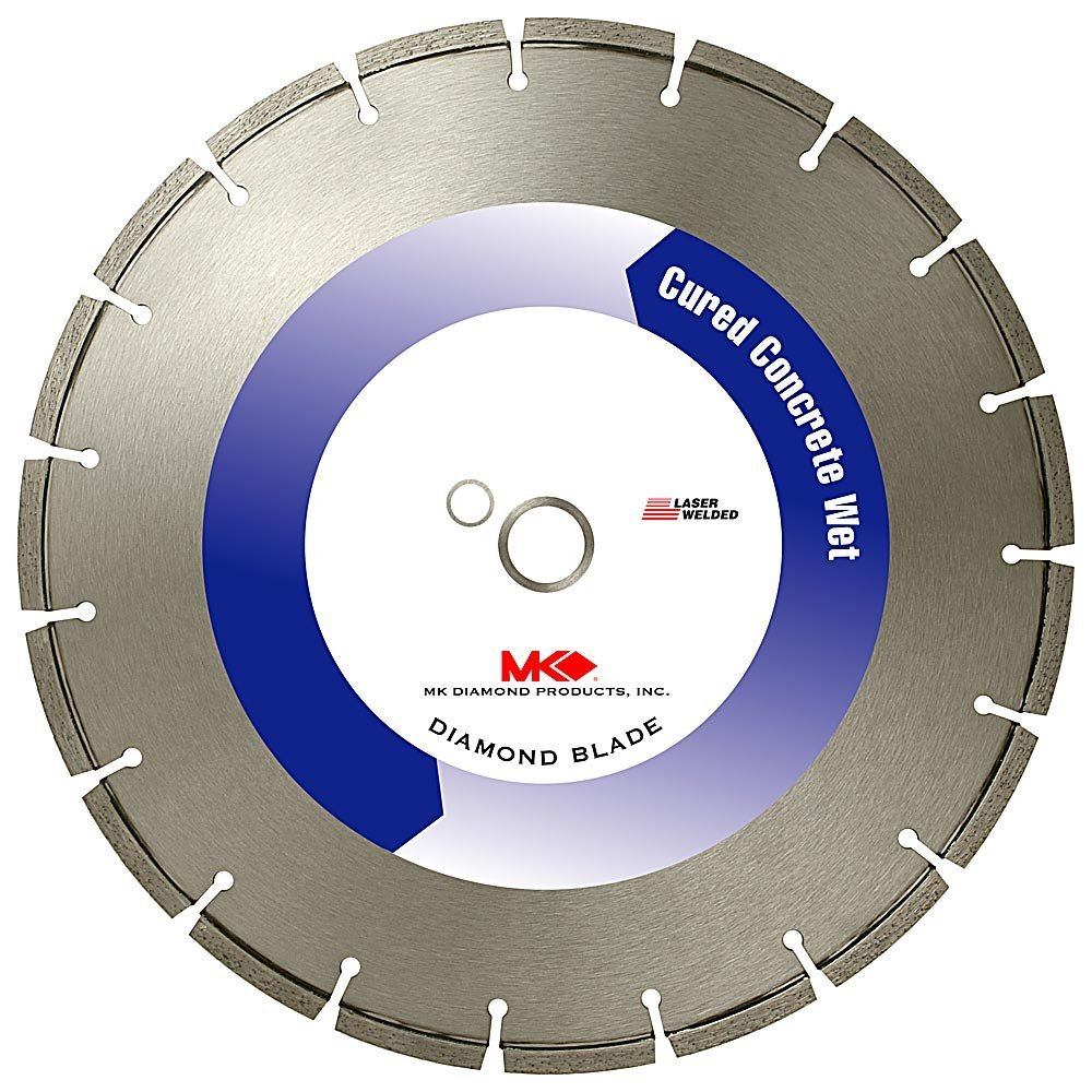 MK Diamond 129056 MK-505 14-Inch by 1/9-Inch Wet Cutting Segmented Diamond Saw Blade with 1-Inch Arbor for Cured Concrete