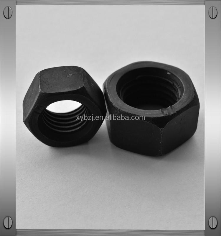 Din934 zinc plated hex nut with attached washer