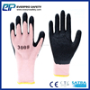 Russia Popular Cold Weather Use Non Slip Mechanics Work Gloves With Latex Crinkle Coated For Women