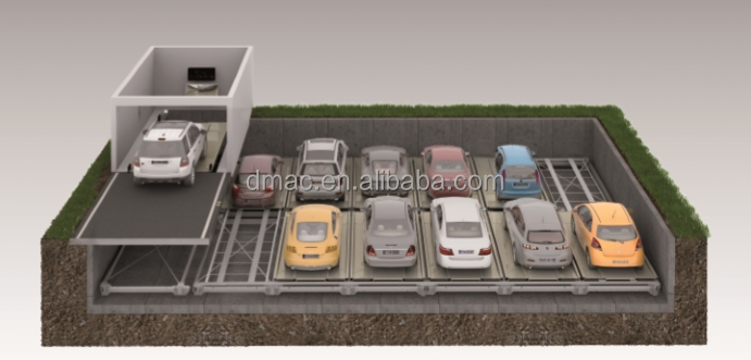 2 To 3 Level Underground Car Lift Parking System Automatic Mechanical