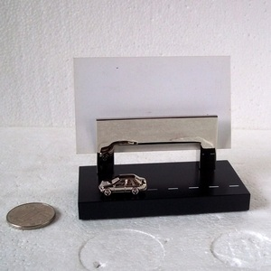custom simple business card holder with zinc alloy material