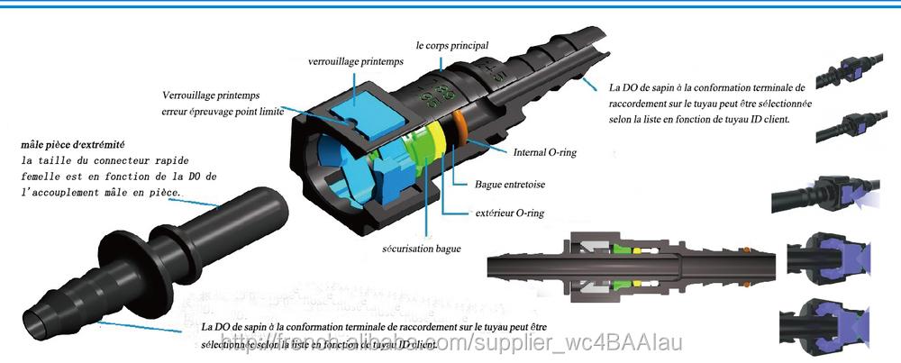 Raccords de Tuyau de Fixation de Tube DUr/éE Raccord de Filtre /à Gaz Connecteur Rapide de Carburant Camisin 9.89 ID8 Connecteur Rapide de Conduite de Carburant Incurv/é