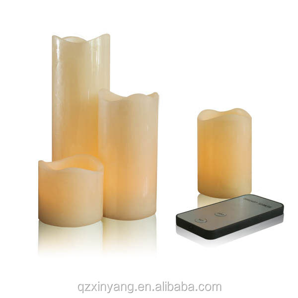 remote control 4 pcs different sizes led flameless wax candles