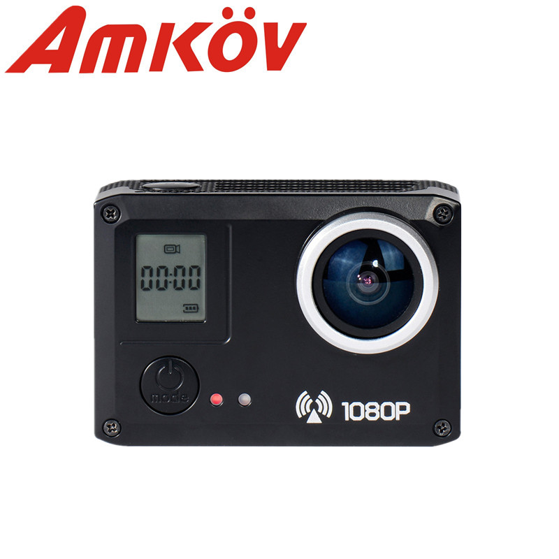 Original AMKOV AMK5000S Открытый Wi-Fi Action Sports Видеокамера Цифровая Камера Видео HD DV Автомобилей DVRWaterproof 30 М 20MP 1080 P