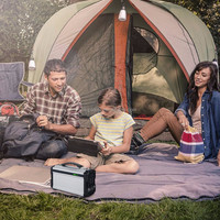 instaboost IPSG400 lithium ion battery operated home generator for home car and charges the phone laptops light