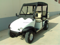 Latest 4 seat cheap electric golf cart with rear rack used in airport