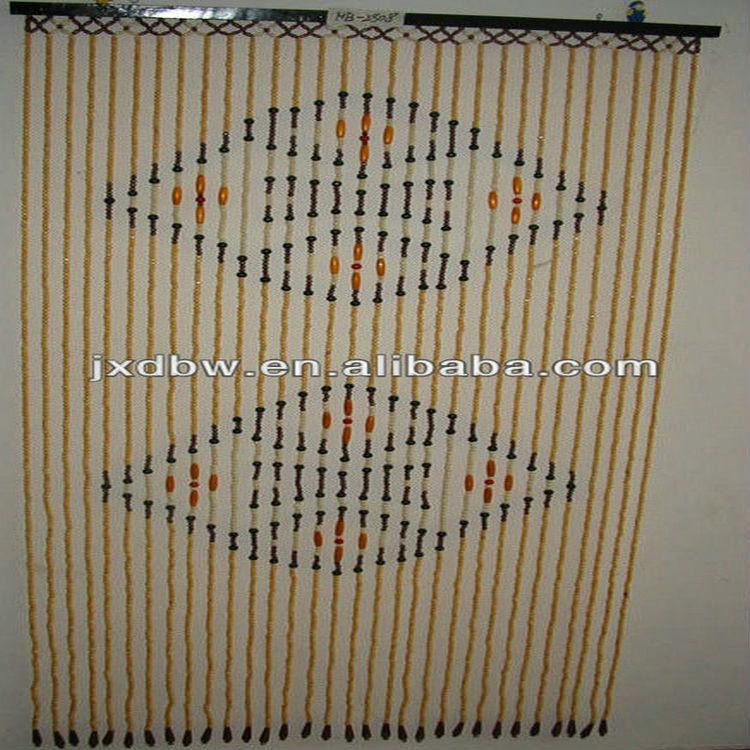 Curtain Supplier Hanging Wooden Bead Door Curtain Decorative ...