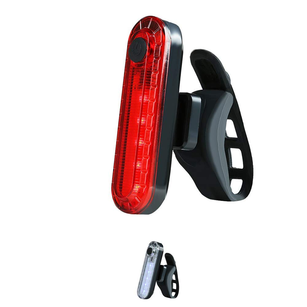 Ajmio Bicycle Waterproof Taillight LED Rear Warning Light USB Rechargeable Super Bright Front and Rear Light